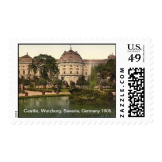 Castle And Fountain, Wurzburg, Bavaria, Germany Postage