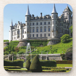 Castle and gardens beverage coaster