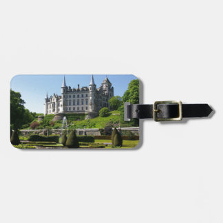 Castle and gardens luggage tag