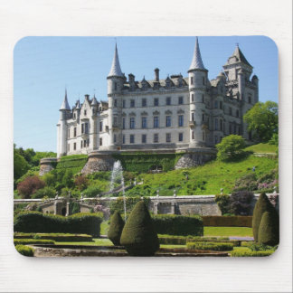 Castle and gardens mouse pad