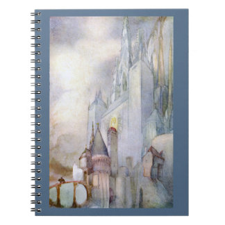 Castle and Knight Rare Vintage Fantasy Notebook