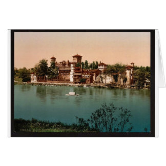 Castle and mediaeval market town, Turin, Italy vin Greeting Card