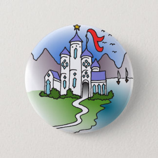 Castle and mountains button
