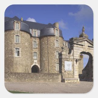 Castle and Museum, Boulogne, Pas-de-Calais, Square Sticker