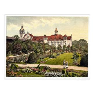 Castle and rose garden, Colberg, Pommeraina, Germa Postcard