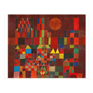 Castle and Sun, Paul Klee Expressionism Figurative Postcard