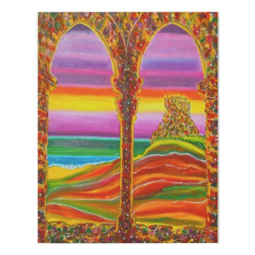 Castle Arches Faux Canvas Print - rainbow wall art decor