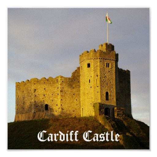 Castle at Sunset Poster