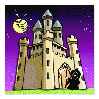 Castle Bats and Grim Reaper at Castle Door Card