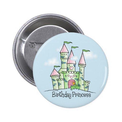Castle Birthday Princess 2 Inch Round Button