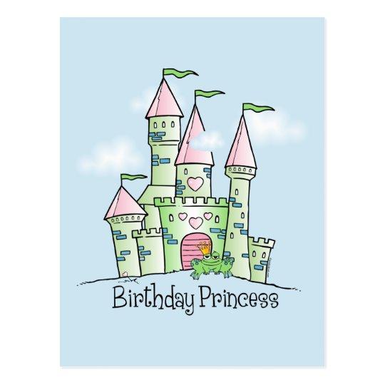 Castle Birthday Princess Postcard