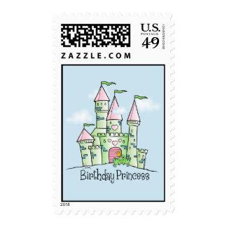 Castle Birthday Princess Stamp