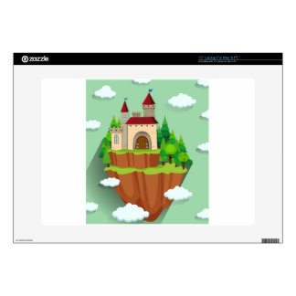 """Castle building on the mountain 15"""" laptop decal"""