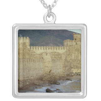 Castle, built by the Crusaders Silver Plated Necklace