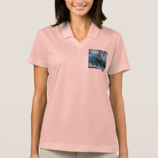 Castle by Stormy Sea Polo Shirt
