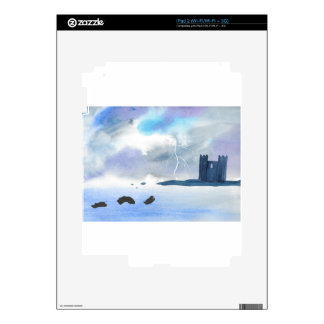 Castle By the Sea iPad 2 Skin
