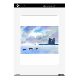 Castle By the Sea Skins For The iPad