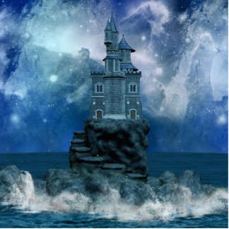 Castle by the Stormy Sea Cutout