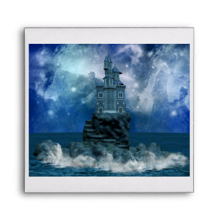 Castle by the Stormy Sea Envelope