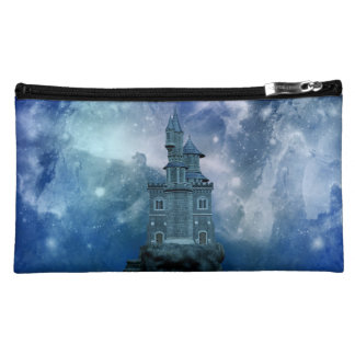 Castle by the Stormy Sea Makeup Bag