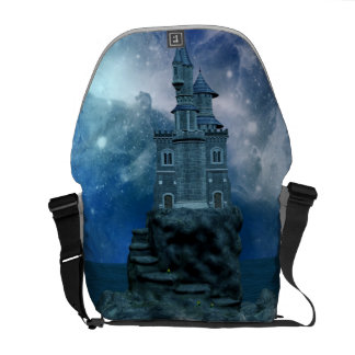 Castle by the Stormy Sea Messenger Bag