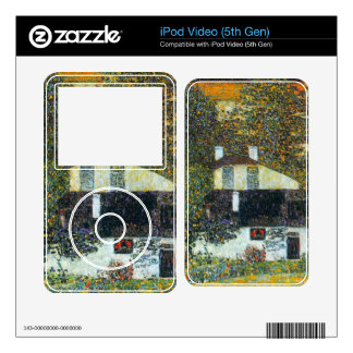 Castle Chamber at Attersee II by Gustav Klimt iPod Video Decals