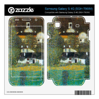 Castle Chamber at Attersee II by Gustav Klimt Samsung Galaxy S 4G Decal