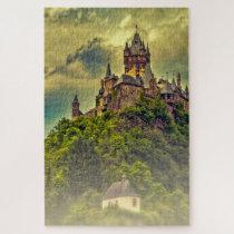 Castle Cochem Mosel Reichsburg. Jigsaw Puzzle