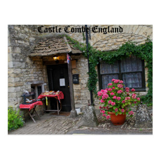 Castle Combe England, photography on post card