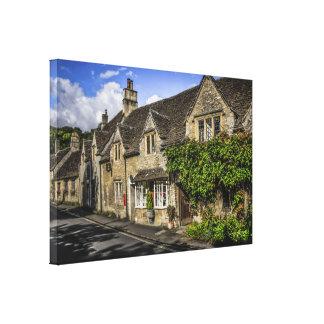 Castle Combe village in Wiltshire England Canvas Print