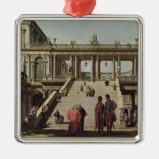 Castle Courtyard, 1762 Metal Ornament