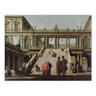 Castle Courtyard, 1762 Postcard