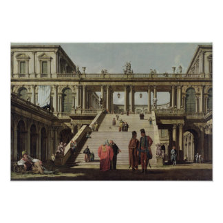 Castle Courtyard, 1762 Poster