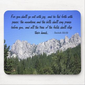 Castle Crags -Isaiah 55:12 - Mouse Pad