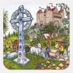 Castle Cross Stickers