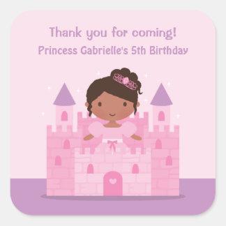Castle Cute African American Princess Stickers