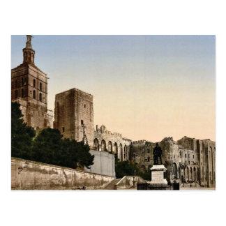 Castle de papa, Aviñón, Provence, Francia P clásic Postales