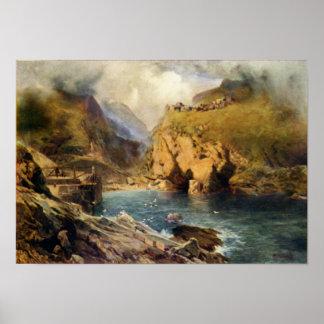Castle de rey Arturo de la cabeza de Tintagel Impresiones