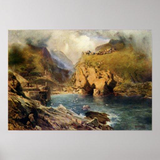 Castle de rey Arturo, de la cabeza de Tintagel Impresiones