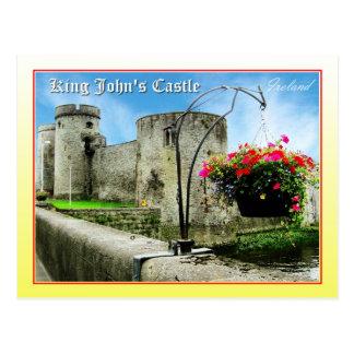 Castle de rey Juan, quintilla, Irlanda Tarjeta Postal