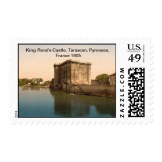 Castle de rey René, Tarascon, los Pirineos, Franqueo