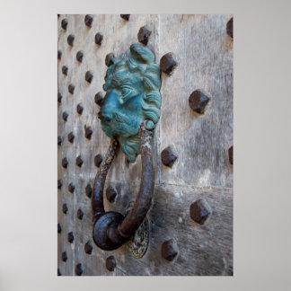 Castle Door Knocker Poster