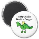 Castle Dragon 2 Inch Round Magnet