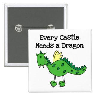 Castle Dragon Button