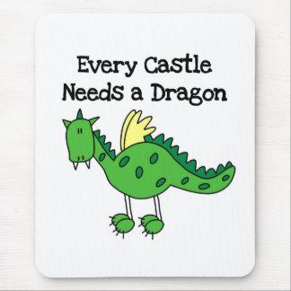 Castle Dragon Mouse Pad