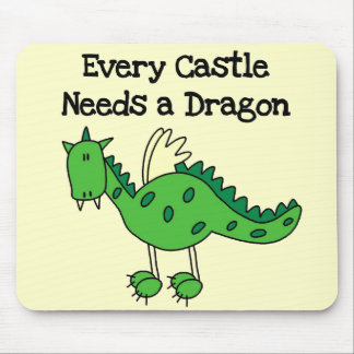 Castle Dragon Tshirts and Gifts Mouse Pad