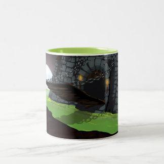 Castle drawbridge and Moat Two-Tone Coffee Mug