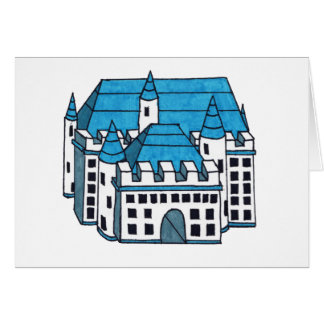 Castle Drawing Card