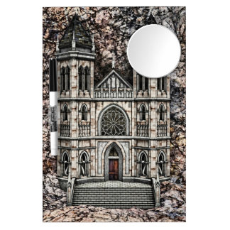 Castle Dry Erase Board With Mirror