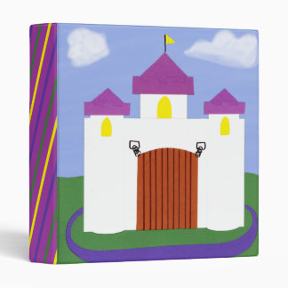 Castle Fairytale with Purple Turrets 3 Ring Binder